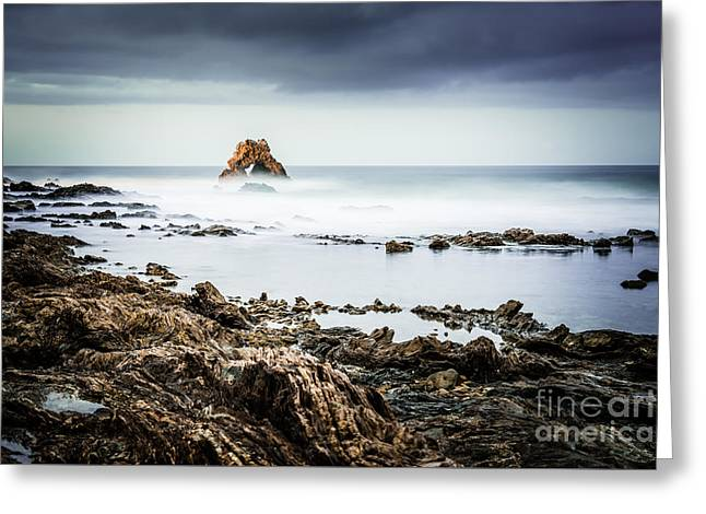 Outside Pictures Greeting Cards - Arch Rock in Corona Del Mar Newport Beach California Greeting Card by Paul Velgos