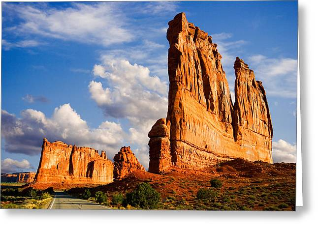 Monolith Greeting Cards - Arches National Park Utah Greeting Card by Utah Images