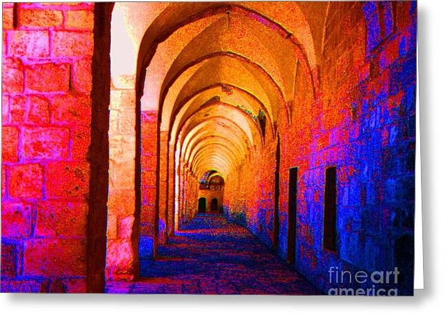 Arches Surreal Greeting Card by Merton Allen