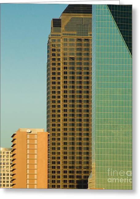 Metroplex Office Greeting Cards - Architecture - skyline of Dallas Texas Greeting Card by Anthony Totah
