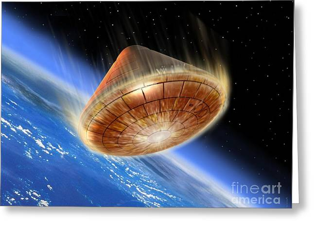 Demonstrator Greeting Cards - Ard Re-entry, Artwork Greeting Card by David Ducros