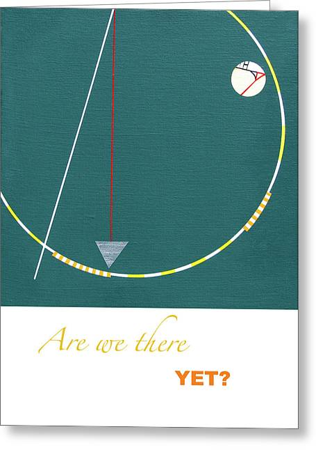 Green Drawings Greeting Cards - Are we there yet Greeting Card by Loraine LeBlanc