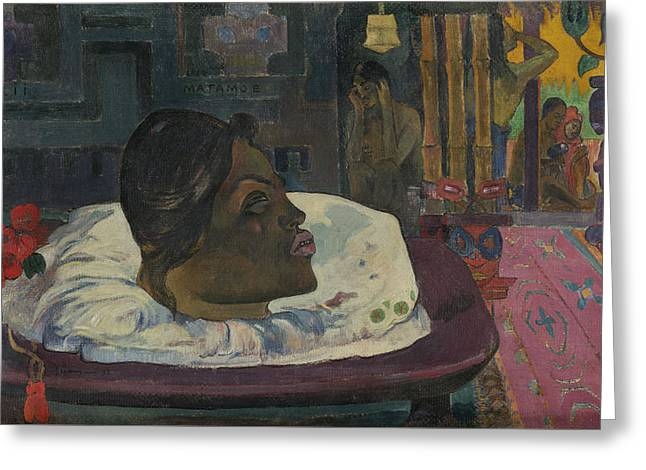 Arii Matamoe Greeting Card by Paul Gauguin