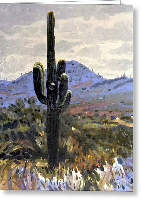 Saguaro Cactus Greeting Cards - Arizona Icon Greeting Card by Donald Maier