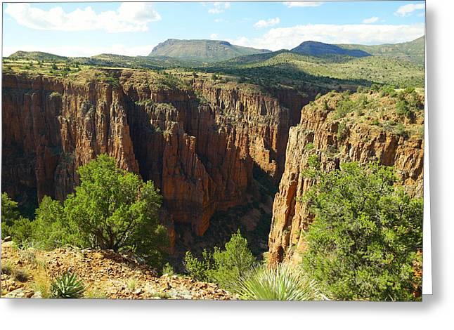 Arizona Landscape Greeting Card by Jeff Swan