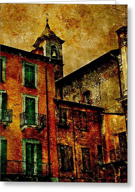 Arona Greeting Cards - Arona Italy Greeting Card by Terry Hankins