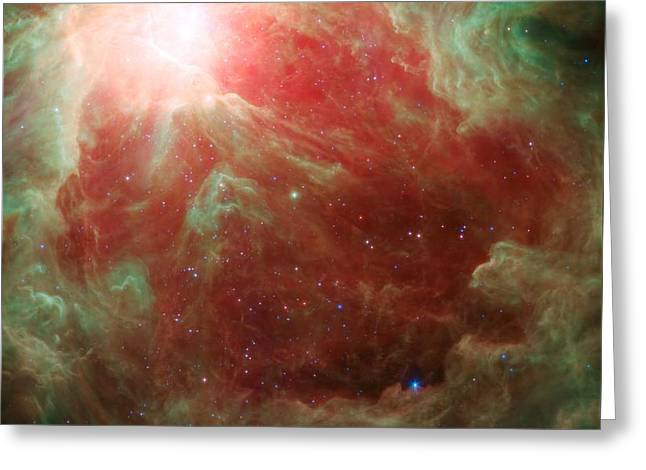Around The Sword Of The Constellation Orion Greeting Card by American School