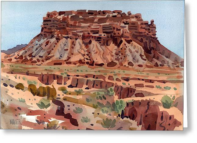 Butte Greeting Cards - Arroyo and Butte Greeting Card by Donald Maier