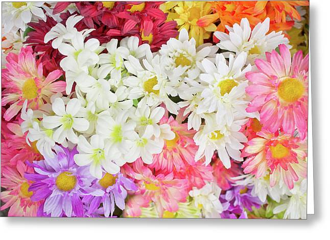 Artificial Flowers Greeting Card by Tom Gowanlock