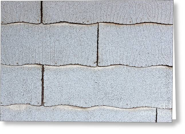 Asbestos Asphalt Composition Shingles Greeting Card by Inga Spence