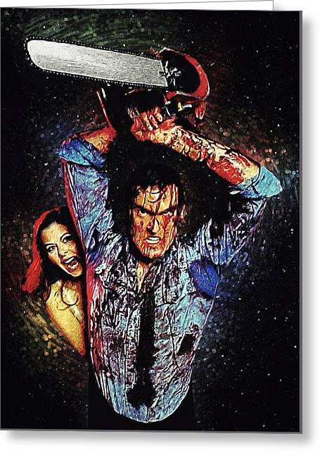Portrait Of Evil Greeting Cards - Ash Williams Greeting Card by Taylan Soyturk
