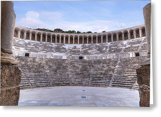 Asien Greeting Cards - Aspendos - Tuerkey Greeting Card by Joana Kruse