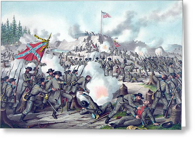 Assault On Fort Sanders Greeting Card by American School
