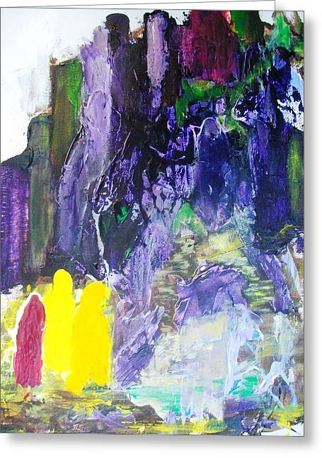 At Last The Purple Mountain Greeting Card by Bruce Combs - REACH BEYOND