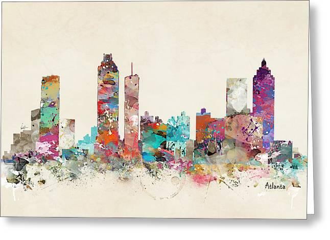 City Art Greeting Cards - Atlanta Georgia Greeting Card by Bri Buckley