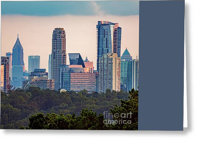 Sovereign Greeting Cards - Atlanta Skyline Greeting Card by Doug Sturgess