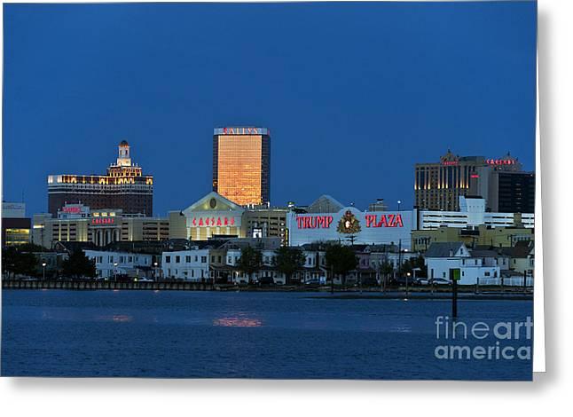 Atlantic City Skyline Greeting Card by John Greim