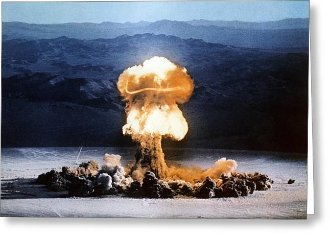 Nuclear Warfare Greeting Cards - Atomic Bomb Explosion Greeting Card by Us Department Of Energy