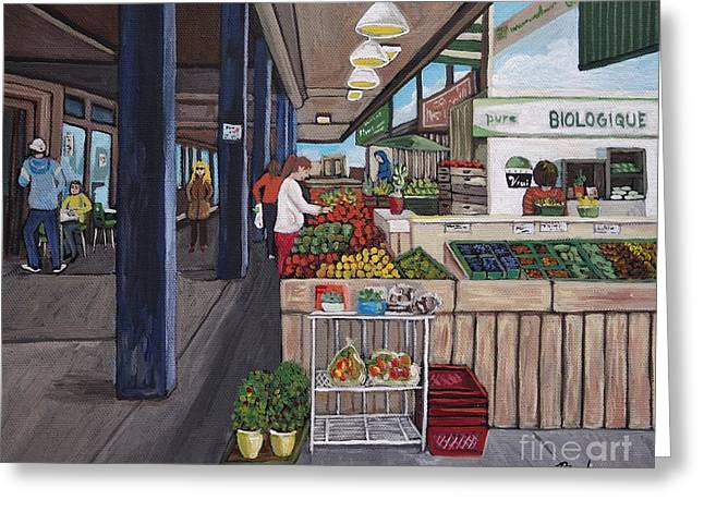 Atwater Market Greeting Card by Reb Frost