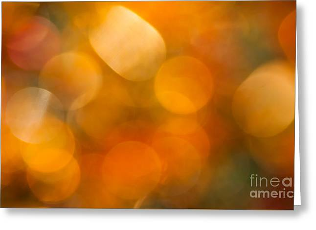 Warm Colours Abstract Greeting Cards - August Heat Greeting Card by Jan Bickerton