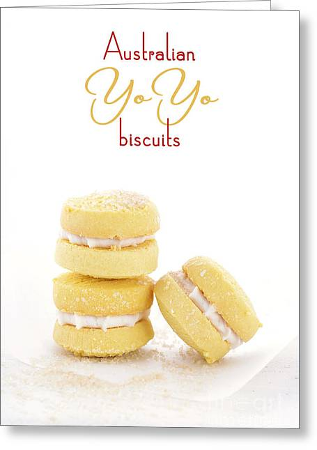 Tabletop Greeting Cards - Australian style yo-yo biscuits.  Greeting Card by Milleflore Images