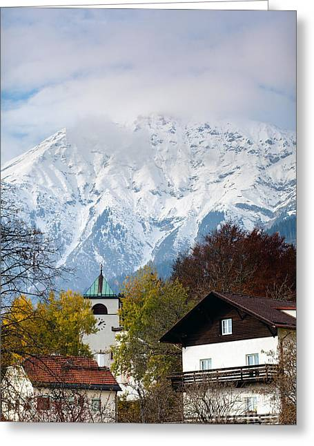 Salzburg Greeting Cards - Austrian Alps Greeting Card by Andre Goncalves