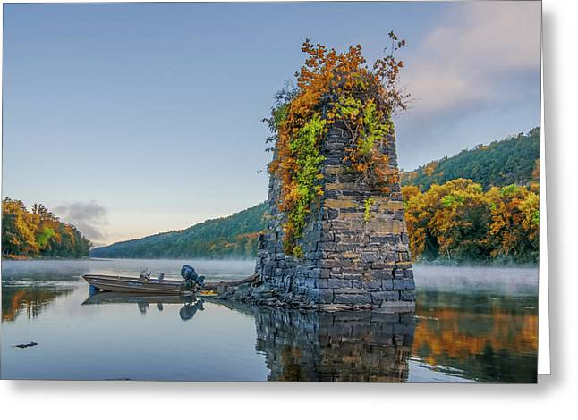 Autumn Along The Delaware River Greeting Card by Bill Cannon
