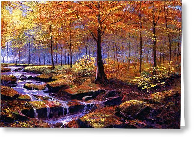 Autumn In Goldstream Park Greeting Card by David Lloyd Glover