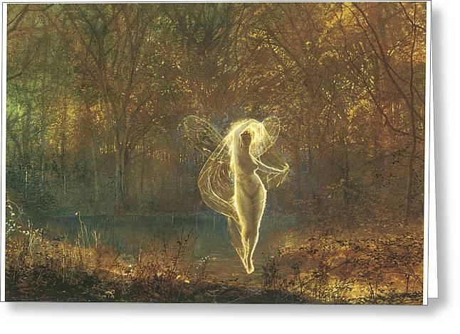 Autumn Greeting Card by John Atkinson Grimshaw