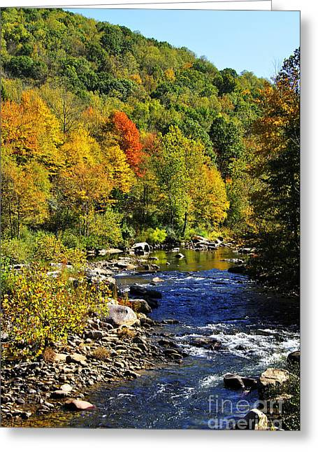 Allegheny Greeting Cards - Autumn on the Cherry River Greeting Card by Thomas R Fletcher