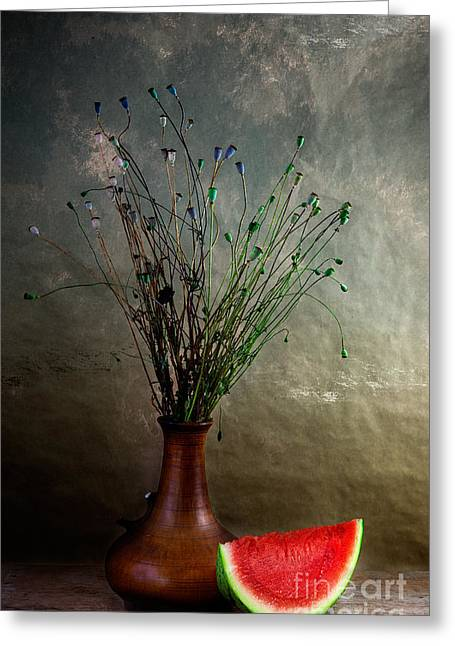 Watermelon Photographs Greeting Cards - Autumn Still Life Greeting Card by Nailia Schwarz