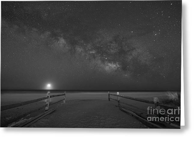 Avalon New Jersey Milky Way Rising  Greeting Card by Michael Ver Sprill