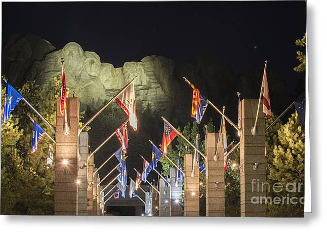 President Of America Photographs Greeting Cards - Avenue of Flags Greeting Card by Juli Scalzi