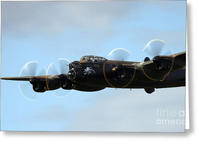 Warcraft Greeting Cards - Avro Lancaster Greeting Card by Angel  Tarantella