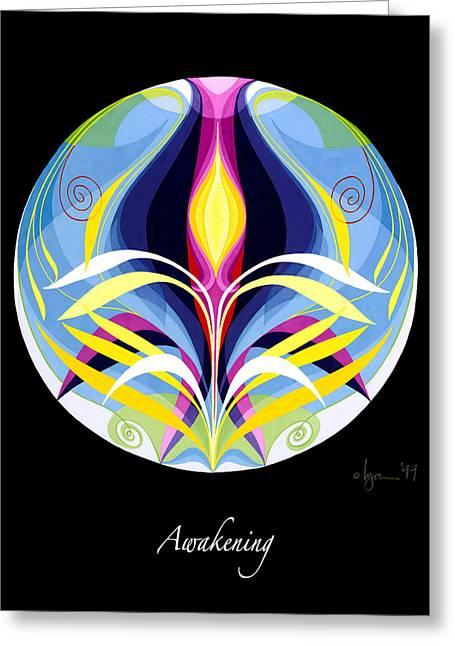 Survivor Art Paintings Greeting Cards - Awakening Greeting Card by Angela Treat Lyon
