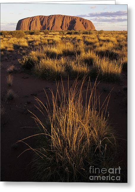 Monolith Greeting Cards - Ayers Rock Or Uluru Greeting Card by Jean-Louis Klein & Marie-Luce Hubert