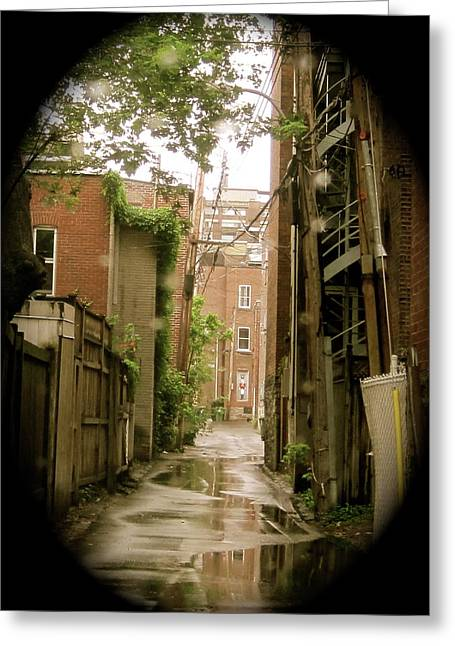 Michael Litvack Greeting Cards - Back Lanes Greeting Card by Michael Litvack