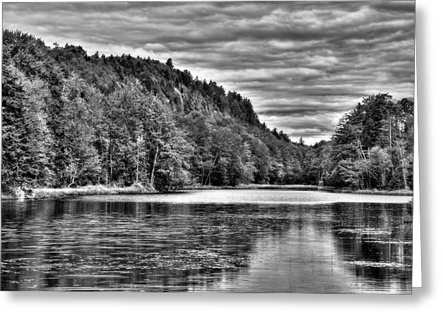 Old And New Greeting Cards - Bald Mountain Pond - Old Forge Greeting Card by David Patterson