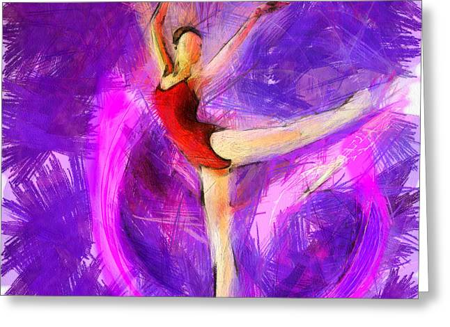 Ballet Greeting Card by Anthony Caruso