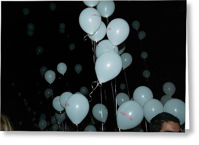 Juanes Greeting Cards - Balloons at the Concert in Merida Greeting Card by Carol Ailles