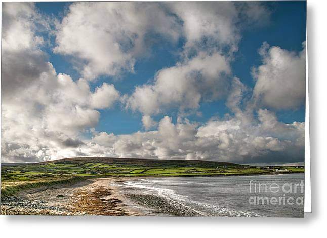 Ireland Photographs Greeting Cards - Ballycastle Bay Greeting Card by Marion Galt