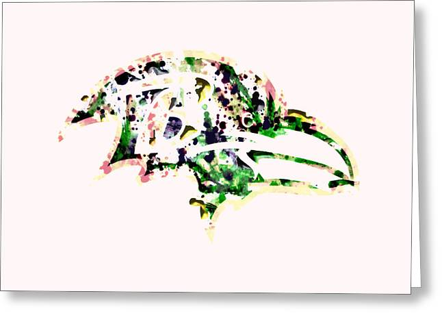Pro Football Paintings Greeting Cards - Baltimore Ravens Greeting Card by Brian Reaves