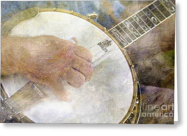 Fret Greeting Cards - Banjo - D002330-a Greeting Card by Daniel Dempster