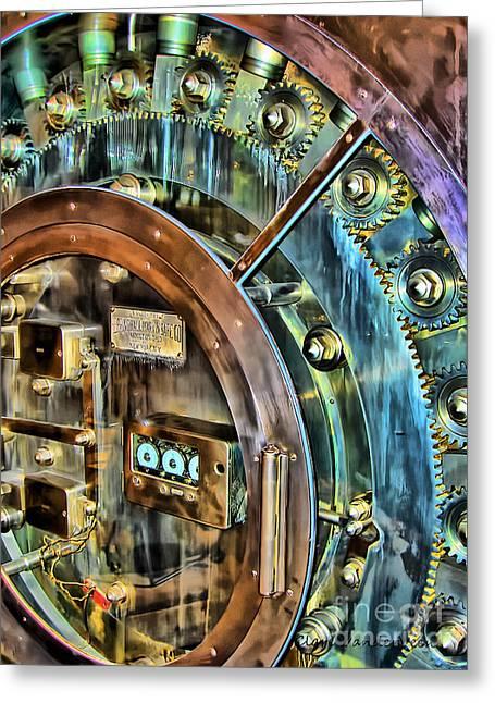Bank Vault Door Greeting Card by Clare VanderVeen