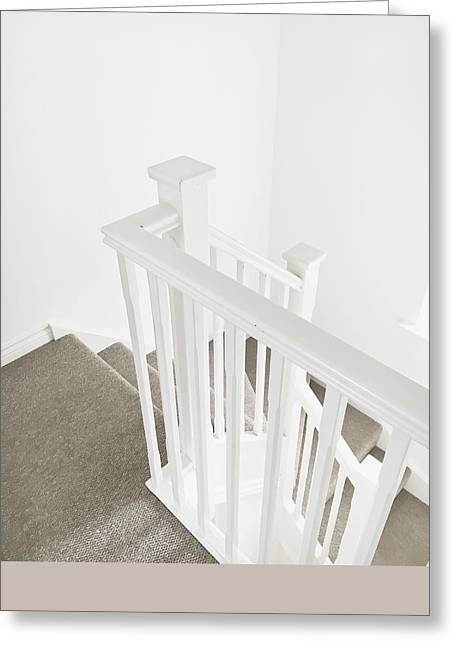Bannister Greeting Card by Tom Gowanlock