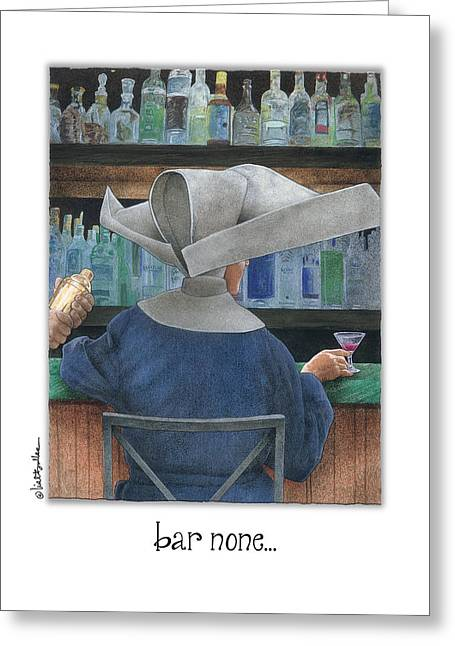 Bar None... Greeting Card by Will Bullas