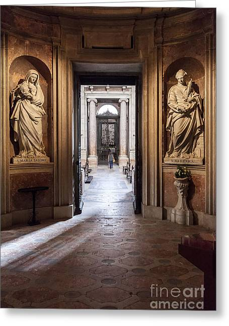 Mafra Greeting Cards - Baroque chapel Greeting Card by Jose Elias - Sofia Pereira