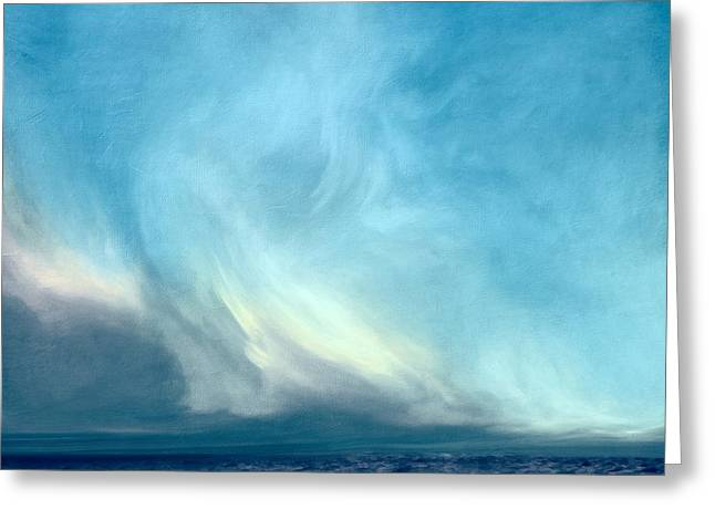 Celestial Paintings Greeting Cards - Barren Lands Greeting Card by LC Bailey