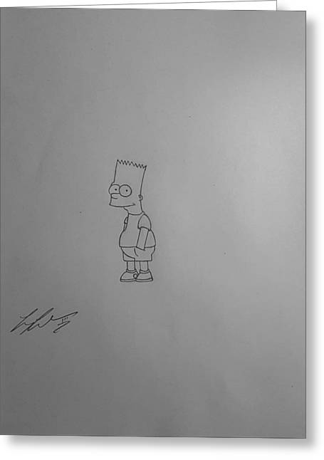 Bart Simpson Greeting Card by Larry Lefler