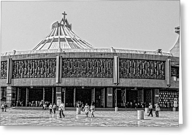 Nuestra Senora De Guadalupe Greeting Cards - Basilica de Guadalupe Greeting Card by Totto Ponce